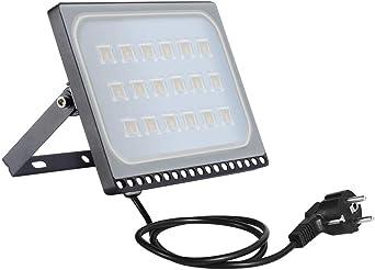 100w Foco Proyector LED Ultra Plano para exterior, Floodlight con ...