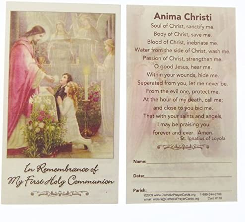 Amazon.com: Catholic In Remembrance Of My First Holy Communion