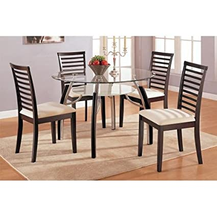 Kitchen Dining And More.Amazon Com Dining Table Contemporary Dark Espresso Finish Tables