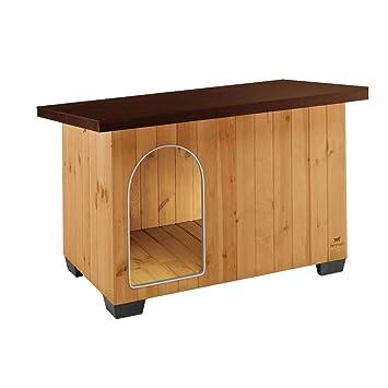Feplast 87017000 Caseta de Exterior para Perros Baita 120, Robusta Madera Ecosostenible, Pies de