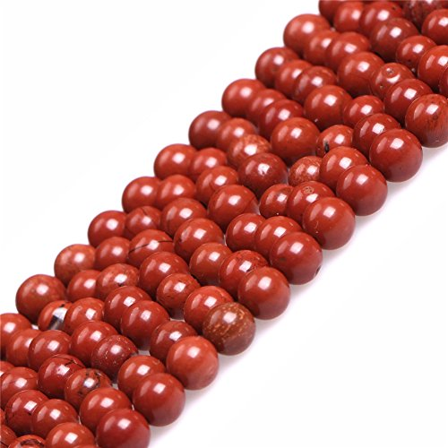 (Red Jasper Beads for Jewelry Making Natural Gemstone Semi Precious 4mm Round 15