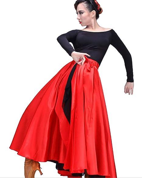 Grouptap Flamenco español Rojo Mexicano Mujeres señoras Adulto ...