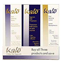 NISIM Kalo 3Pk - Post Epilating Spray, Lotion And Ingrown Hair Treatment- Permanent Hair Removal, 300 Milliliters
