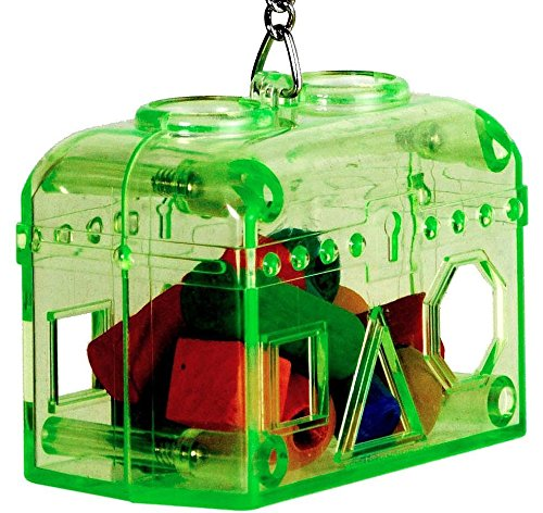 60019 Large Green Treasure Chest Birds Foraging Toys Cages Parrot Plastic Unbreakable ...