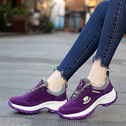 And Shoes Women'S Rocking Shoes casual Spring Leather Casual Fashion Women'S Cotton Shoes Breathable sho Sports Autumn Fashion Women'S Shoes purple Shoes qxxFwBEp