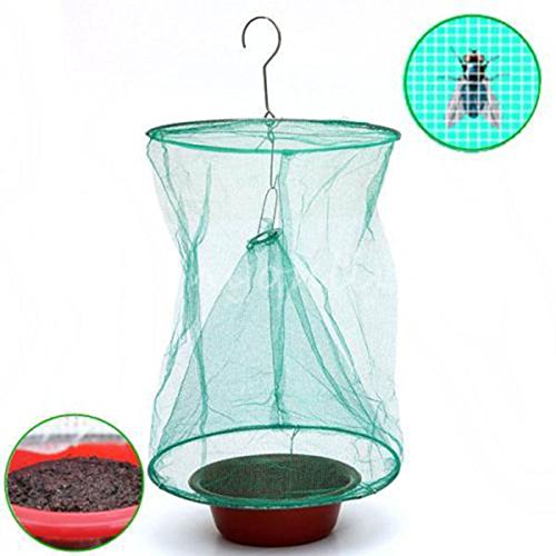 VIPASNAM-Outdoors Fly Bug Insect Pest Mesh Net Catcher Cage Hanging Trap Killer - Discount Station Shade