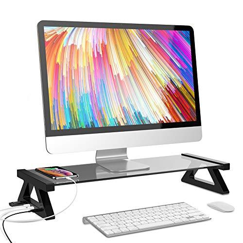 UYASDASFAFGS Smart Multifunktion Bildschirmständer Ständer,Computer Tv-bildschirmregal Mit 4 USB-anschlüssen…