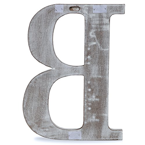 The Lucky Clover Trading LBL24CG-B''B'' Wood Block Letter, 24''L, Charcoal Grey