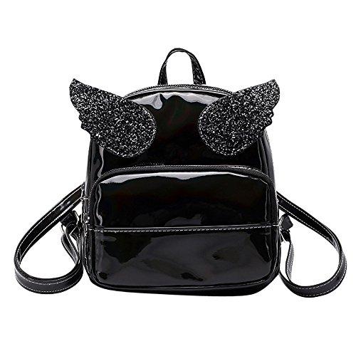 Women's Bags HOSOME Fashion Girl Laser Squins School Bag Backpack Satchel Women Trave Shoulder Bag Black