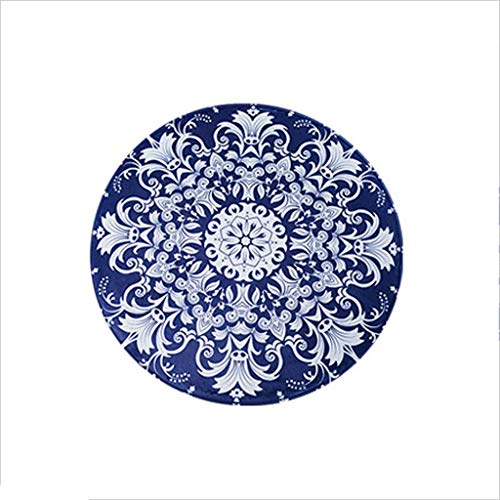 8080 Chair - XI HOME Retro Round Carpet Living Room Bedroom Absorbent Floor Mat Computer Chair Swivel Chair Carpet (Size : 8080cm)