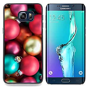 For Samsung Galaxy S6 Edge Plus / S6 Edge+ G928 Case , Bolas Insignia de Oro Rosa - Diseño Patrón Teléfono Caso Cubierta Case Bumper Duro Protección Case Cover Funda