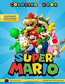 Amazon.com: Super Mario Coloring Book for Adults and Kids: Super ...
