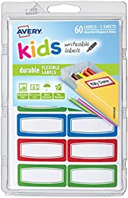"""Kids Durable Labels, Handwrite Only, 1-3/4"""" x 3/4&qu"""