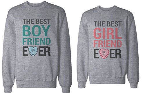Best Boyfriend and Girlfriend Ever Couple Sweatshirts Cute Valentines Day Gift