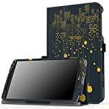 MoKo LG G Pad F 8.0 / G Pad II 8.0 Case, Slim Folding Cover for [4G LTE AT&T Model V495 / T-Mobile Model V496 / US Cellular Model UK495] & G Pad 2 8.0 [V498] 8 Inch Android Tablet, City Night View