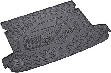 Passgenau Kofferraumwanne Geeignet Für Hyundai Tucson Ab 2015 Ideal Angepasst Schwarz Kofferraummatte Gurtschoner Auto