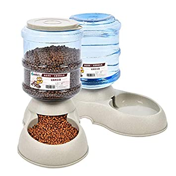 Haili 2pcs Alimentador automático de Alimentos para Mascotas y dispensador de Agua para Perros y Gatos, Mascotas, Animales (3.75L): Amazon.es: Productos ...