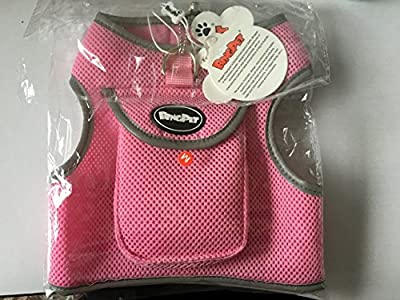 BINGPET Soft Mesh Dog Backpack Harness Pet Puppy Padded Vest No Pull Harnesses with Pocket