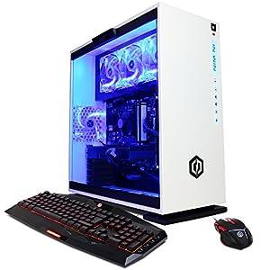 CyberpowerPC Gamer Xtreme GXi10200A Desktop Gaming PC (Intel i7-7700 3.6GHz, NVIDIA GTX 1060 6GB, 16GB DDR4 RAM, 1TB 7200RPM HDD, 120GB SSD, Win 10 Home), White