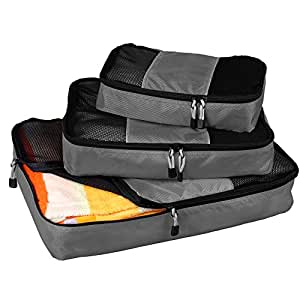 Packing Cubes Small, Draway Travel Clothes Organizer 3 Packs Small Medium Large Mesh Packing Squares