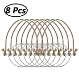 FEESHOW 6/8pcs Stainless Steel Wire Handles for Mason Jar, Ball Pint Jar, Canning Jars, Mason Jar Hangers and Hooks for Regular Mouth 8PCS Burlap Hangers One Size