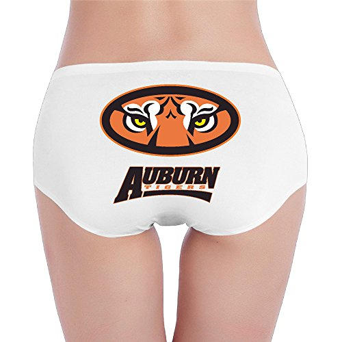 Low Rise Tiger - Hovalle Auburn University Tigers Low-Rise Sexy Ladies Fashion Underwear Seam Free Briefs.Brief Hipsters Panties White M