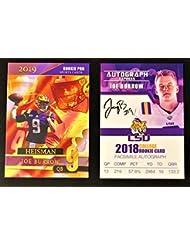 "2018 JOE BURROW""Autograph Express"" College Rookie & 2019 LSU Tigers - HEISMAN Rookie Pro - College Football Rookie Cards"