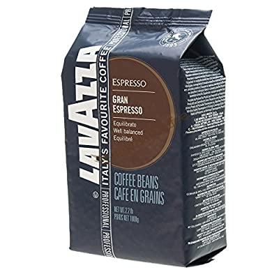Lavazza Gran Espresso Coffee Beans 2 (2.2lb) bags