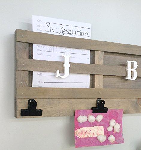 Homework Organization Station School Work Mail Holder Metal Paper Clamps