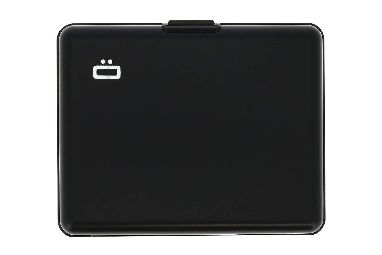 Ögon BS-Black Tarjetero Big Stockholm Cartera de Aluminio Anodizado Negro: Amazon.es: Oficina y papelería