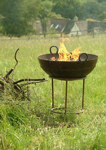 Versátil Kadai al aire libre de hierro fundido Fire Pit ...