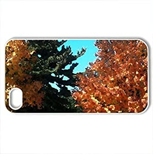 Beautiful Autumn Scene - Case Cover for iPhone 4 and 4s (Watercolor style, White)
