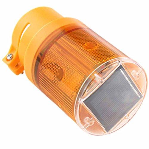 Led Traffice Warning Lights Solar Powered LED Safety Signs Flash Flicker Beacon Lamp Warning Light Wireless (Warm 1 Piece)