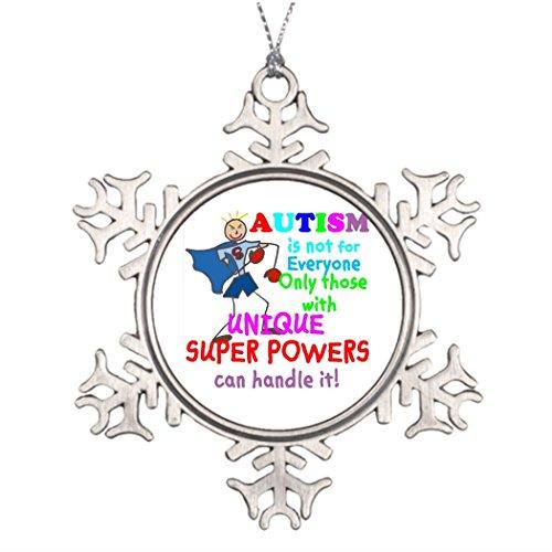 Custom Christmas Snowflake Ornaments Unique Super Powers Autism House Decorating Ideas