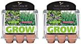 Buzzy 94676 6 Pot Assorted Herb Mini Greenhouse Grow Kit - Quantity 2