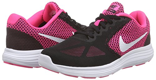 Para hyper Zapatillas Rosa Pink Nike Mujer Running Wmns De black White Revolution 3 n6xYxzwqg