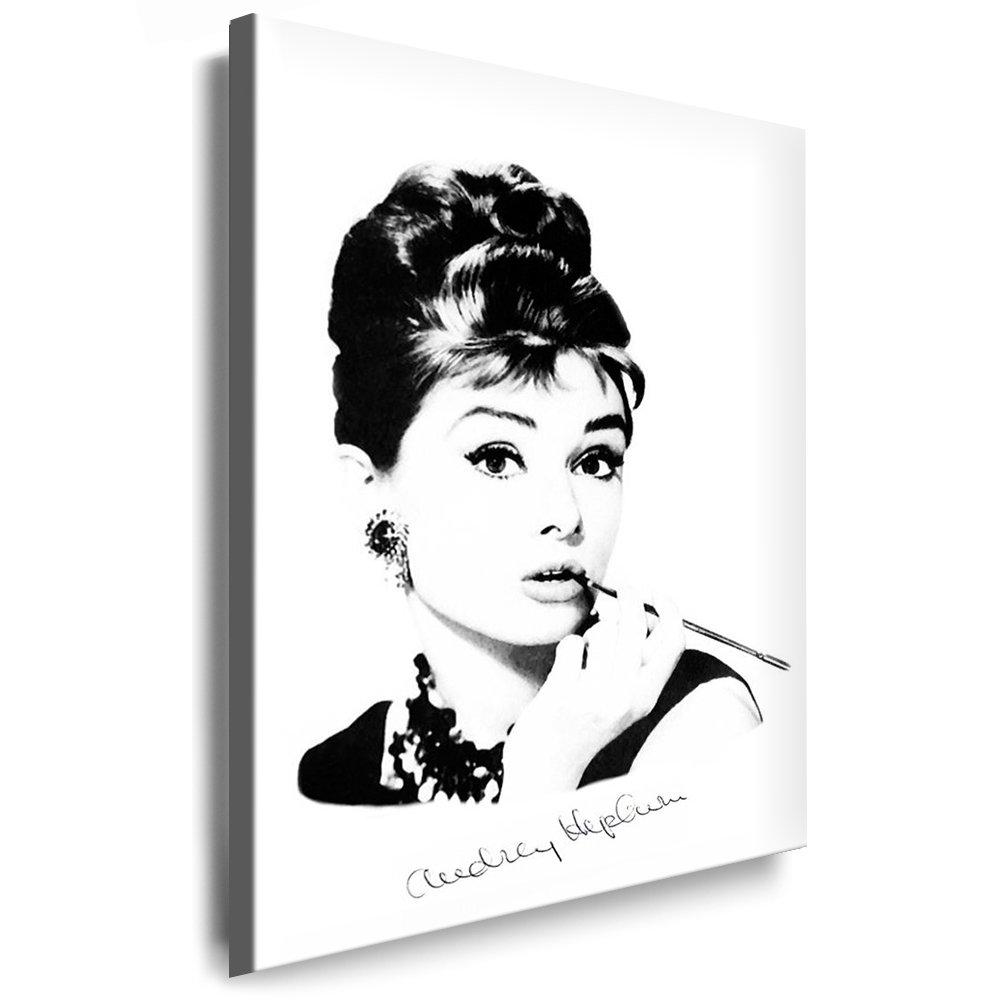 Bilder Kunstdrucke   Boikal   Bild mit Keilrahmen Audrey Hepburn 100x70 cm xxl.90