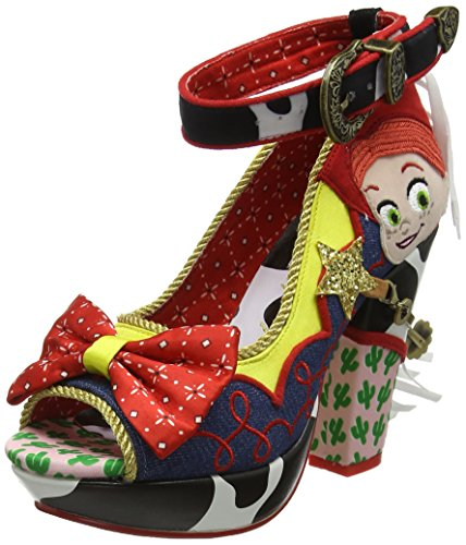 Multi Sandals Blue Platform Blue Cowgirl Tootinest Choice Irregular A Rootinest Women's Red 6pwUvgq