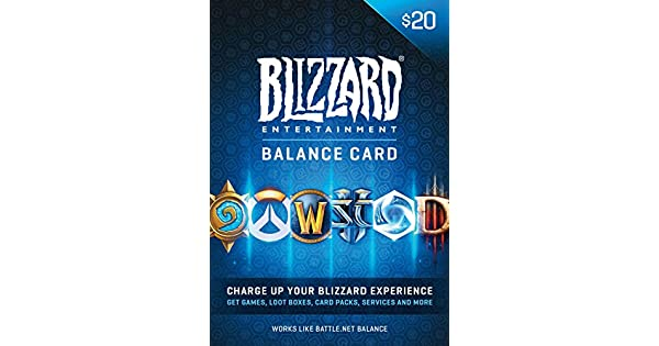 Amazon.Com: $20 Battle.Net Store Gift Card Balance - Blizzard