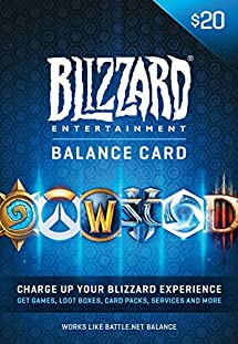 $20 Battle.net Store Gift Card Balance - Blizzard Entertainment [Digital Code] [Online Game Code]