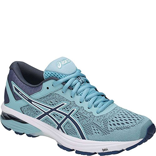ASICS Womens GT-1000 6 Running Shoe, Porcelain Blue/Smoke Blue/White, Size 10