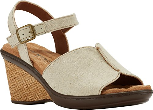 Fabric Cradles Women's Walking Lucca Wedge Sandal Quarter Strap Natural SAnqO
