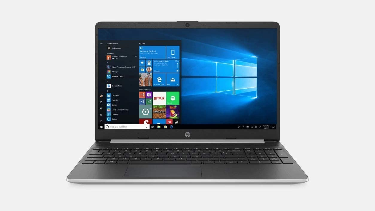 "2020 HP 15 15.6"" HD Touchscreen Premium Laptop - 10th Gen Intel Core i5-1035G1, 16GB DDR4, 512GB SSD, USB Type-C, HDMI, Windows 10 - Silver W (Renewed)"