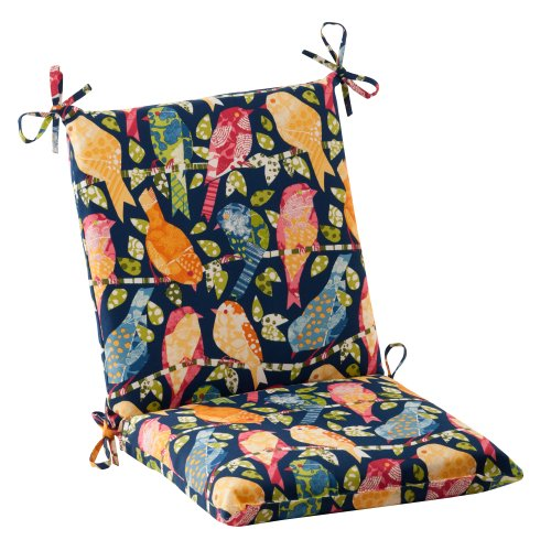 Pillow Perfect Outdoor Ash Hill Squared Chair Cushion, Navy