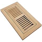 10 x 4 register vent - Homewell Red Oak Wood Floor Register Vent, Flush Mount With Frame, 4x10 Inch, Unfinished