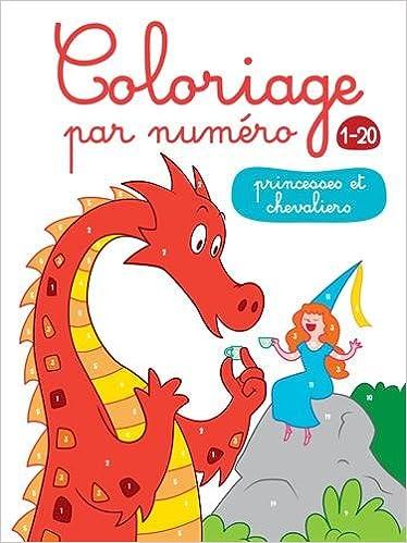 Coloriage Par Numéro 1 20 Princesses Et Chevaliers Amazon