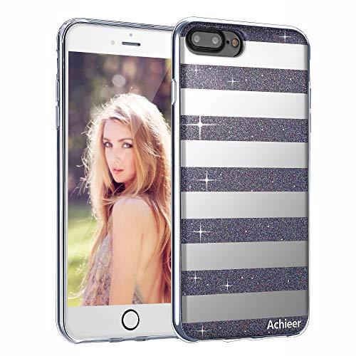 huge discount 87a29 07f37 Glitter Powder Phone Case Mirror Reflex Striped Stars Pattern - Import It  All