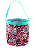 L.O.L. Surprise! Girls Collapsible Nylon Beach Bucket Toy Storage Gift Tote Bag (One Size, Pink)