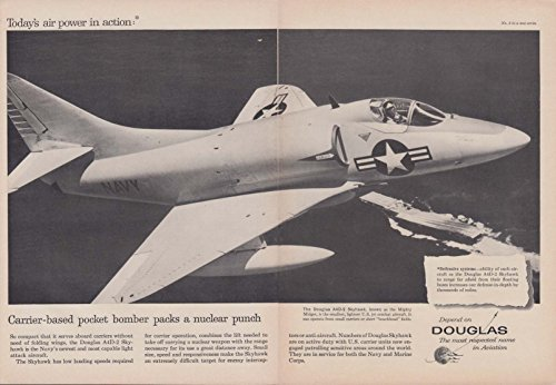 Pack Bomber (Carrier-based pocket bomber packs nuclear punch Douglas A4D-2 Skyraider ad 1958)