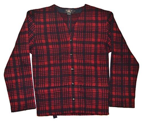 Ralph Lauren Plaid Vest - Ralph Lauren Polo RRL Mens Vintage Buffalo Plaid Wool Sweater Vest Red Black Large